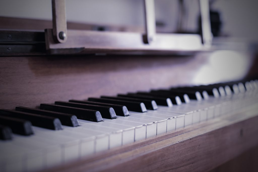 A Close-Up of Piano Keys